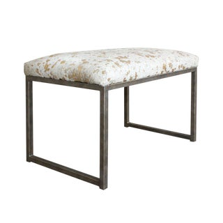 Embossed Metallic Splash Brazilian Cowhide Bench
