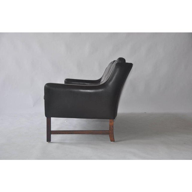 Fredrik A. Kayser Fredrik Kayser Leather and Rosewood Sofa For Sale - Image 4 of 8