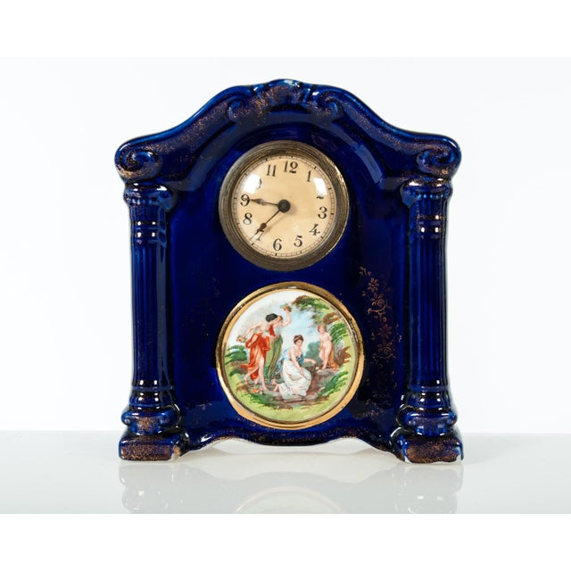 English Traditional Late 19th Century Antique English Three-Piece Decorative Clock Set With Two Urns - Set of 3 For Sale - Image 3 of 5