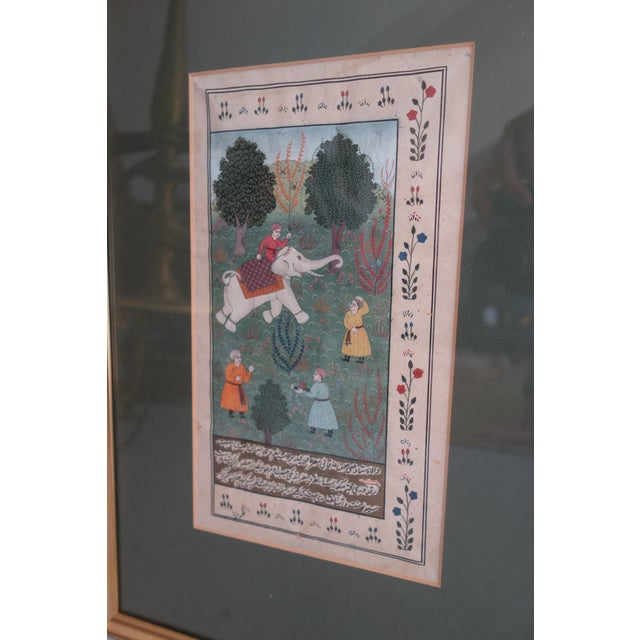 Persian Miniature Watercolors - a Pair For Sale - Image 4 of 8