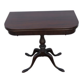 Mahogany Folding Card Game Small Dinette Extension Console Table by Grad Rapid For Sale