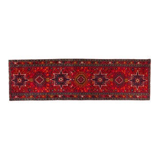 Vintage Hand Knotted Persian Wool Area Rug / Runner For Sale
