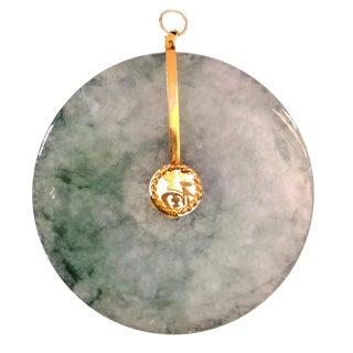 Jadeite Jade Bi Disc Pendant W/Gia Certificate For Sale