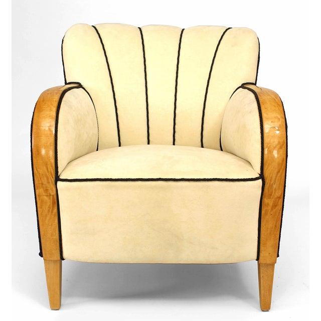 Mid 20th Century Swedish Biedermeier Maple Club Chair For Sale - Image 5 of 5