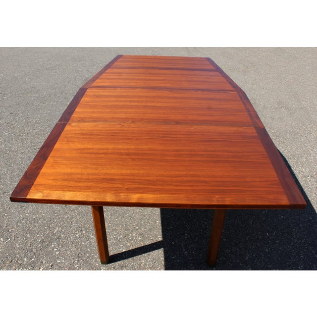 Wood Mid-Century Modern Dunbar Expandable Dining Table For Sale - Image 7 of 10