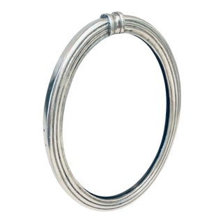 Pierre Deux Oval Pewter Picture Frame For Sale