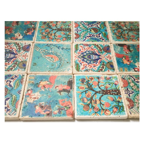 Stone Turkish Tiles - Set of 20 For Sale - Image 4 of 5