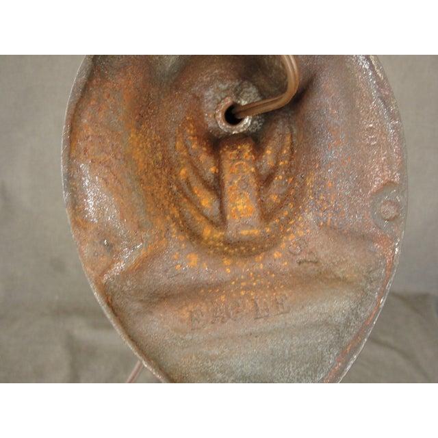 """Vintage Industrial Cast Iron """"Eagle"""" Desk Lamp For Sale - Image 7 of 7"""