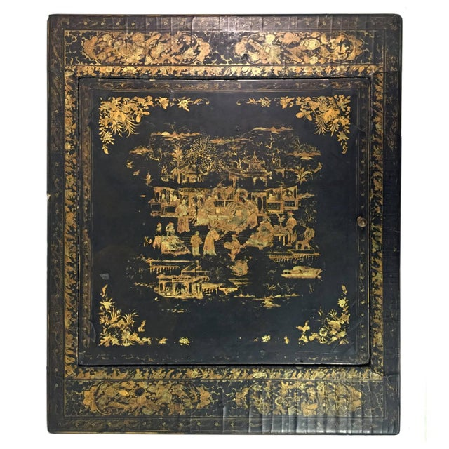 19th Century French Napoleon III Chinoiserie Decorated Games Table For Sale - Image 4 of 6