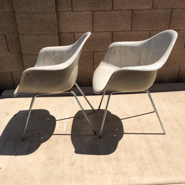 Herman Miller Vintage Eames for Herman Miller Shell Chairs - a Pair For Sale - Image 4 of 10