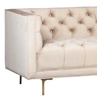 Champagne Tufted Velvet Sofa Preview