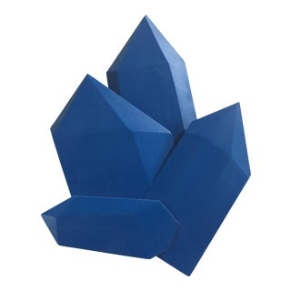 Abstract True Blue Crystals Sculpture