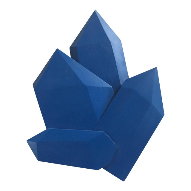 Abstract True Blue Crystals Sculpture For Sale