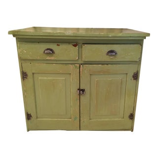 1990s French Country Green Cupboard For Sale