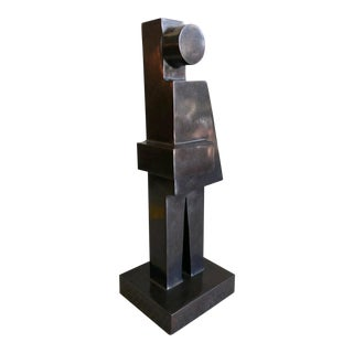 Modern Cubist Bronze Sculpture by Tony Padilla, 2018 For Sale