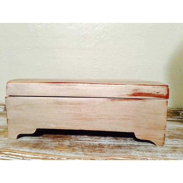 Vintage Shabby Chic Cedar Box - Image 2 of 9