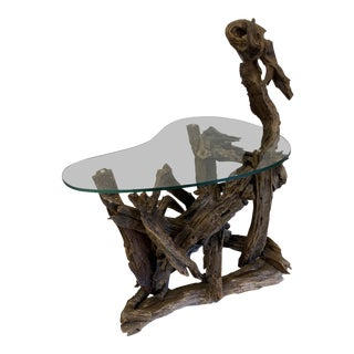 Sculptural Driftwood Table For Sale