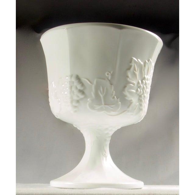 1950s Milk Glass Pedestal Urn / Planter For Sale - Image 4 of 8