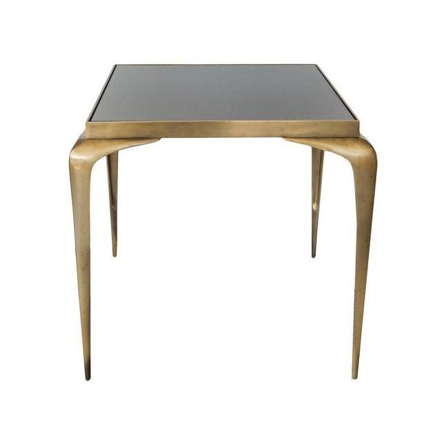 Bronze stiletto leg table - 1950s Italian.