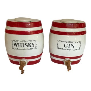 Crown Devon Fieldings Gin Whisky Decanter Jugs For Sale