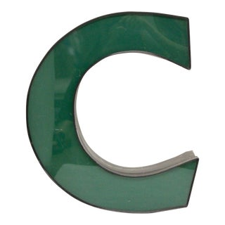 "Vintage Green Channel Letter ""C"" For Sale"
