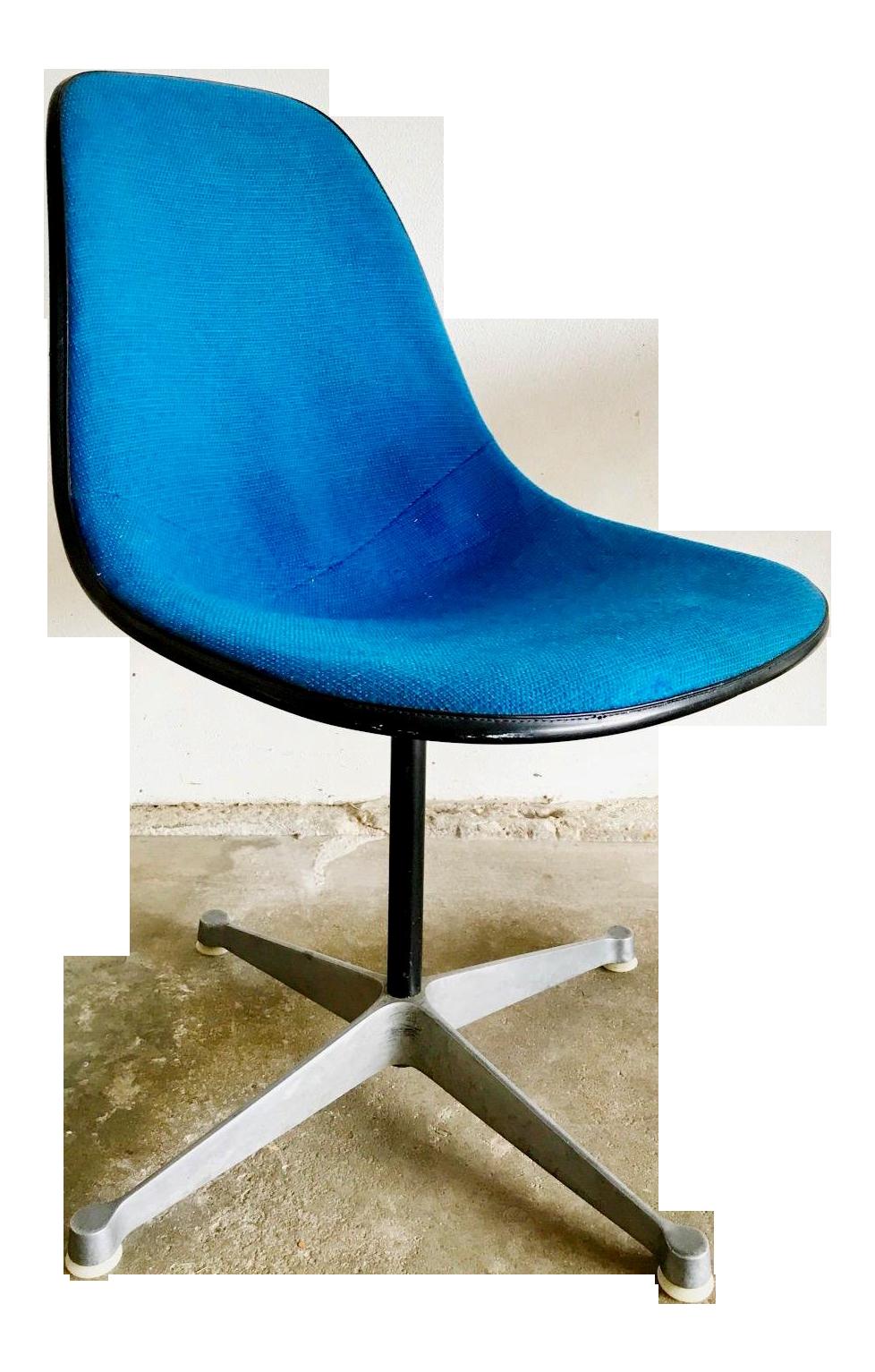 Herman Miller Blue Wool Upholstery U0026 Fiberglass Shell Chair