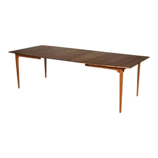 1960s Walnut Expandable Dining Table