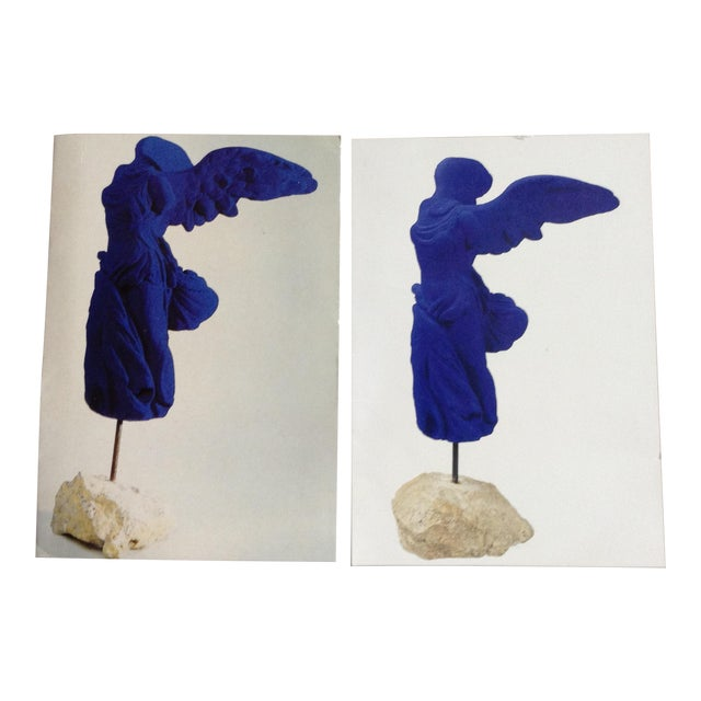 Yves Klein Cobalt Blue Winged Victory Prints - A Pair For Sale