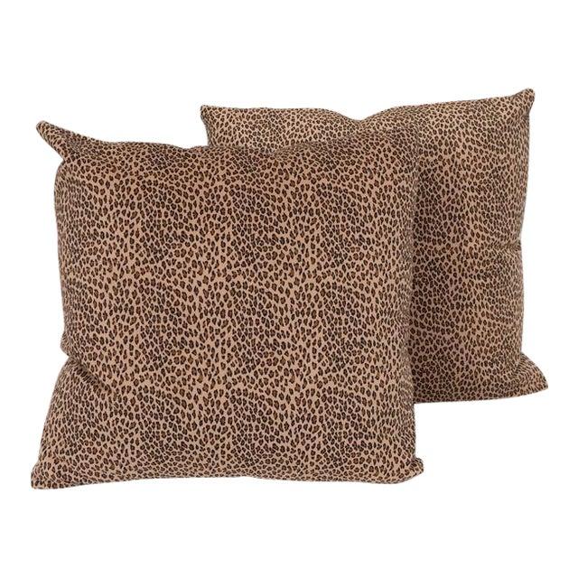 A Pair Cheetah Print Pillows For Sale