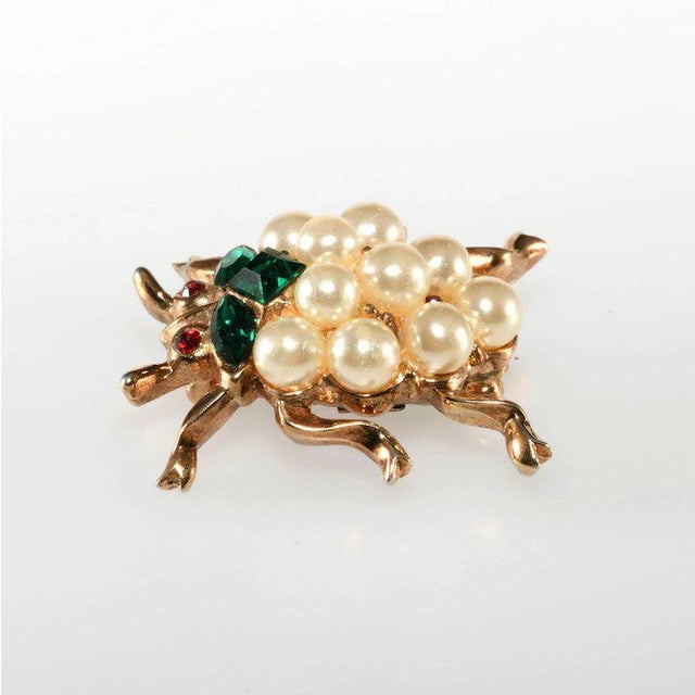 Super cute Trifari insect pin from the Park Avenue Zoo collection advertised in 1953. It was described in a Mother's Day...