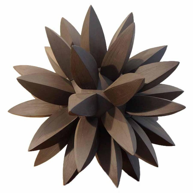 Contemporary Ebony Star Sculpture by Titia Estes For Sale In Los Angeles - Image 6 of 6