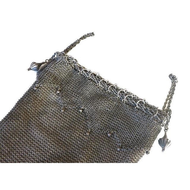 .925 Sterling Silver Mesh Evening Bag Purse - Image 4 of 7