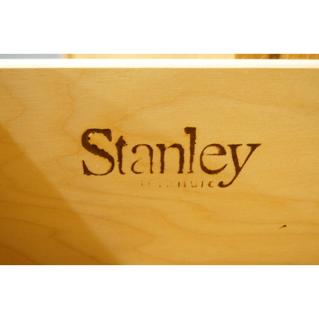 Wood Late 20th Century Vintage Stanley Furniture Blonde Contemporary Armoire For Sale - Image 7 of 13