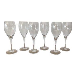 Baccarat Signed Oenologie Cristal Flutes - Set of 6 For Sale