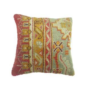 Antique Turkish Oushak Rug Pillow