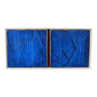 Sapphire, X. Venetian Plaster & Oil on Framed Panels by C. Damien Fox