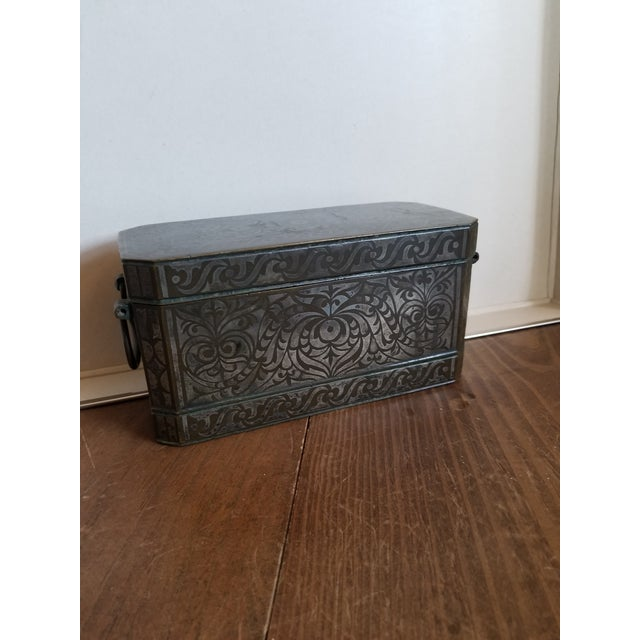 Antique Bronze and Silver Betel Box For Sale - Image 11 of 11