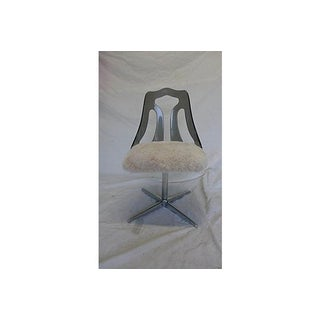 Lucite and Faux Fur Swivel Desk Chair Preview