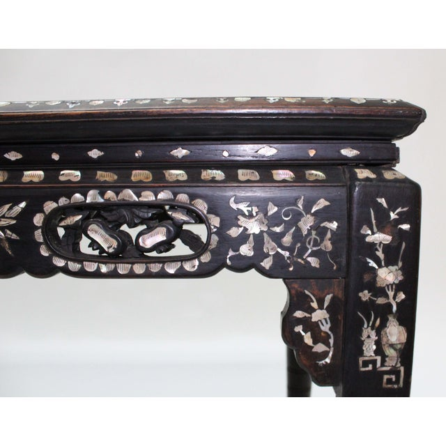 Marble & Mother of Pearl Inlay Table - Image 5 of 10