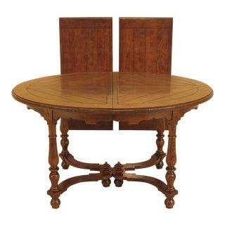 1980s Henredon Oblong Oak Dining Table For Sale