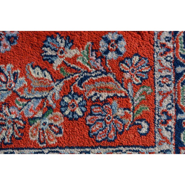 Silk Antique Persian Rug For Sale - Image 7 of 8