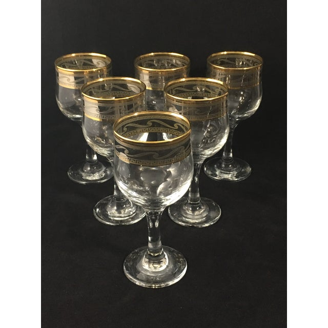 Cristalleria Fumo Hand Decorated Italian Glassware - Set of 6 For Sale In Charlotte - Image 6 of 7