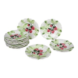 Bordado Pinheiro Strawberry Plates - Set of 10