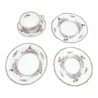 Crown Staffordshire Breakfast Set of 5 For Sale