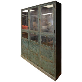 Apothecary Storage Cabinet Cupboard From Late 1800s, Used as Humidor in Small Town Pharmacy