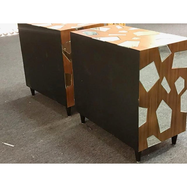 Early 21st Century Early 21st Century Mirrored Commodes or Side Tables - a Pair For Sale - Image 5 of 6