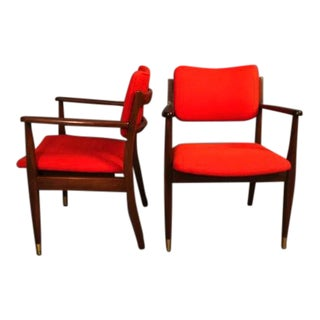 Mid-Century Restored Jensrisom Arm Chairs - a Pair