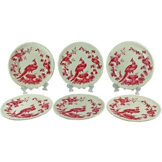 Copeland Spode Black Bird Butter Plates - Set of 6 For Sale