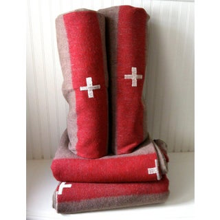 1960s Vintage Swiss Army Wool Blanket Preview