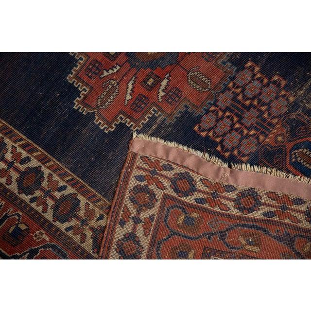 """Blue Antique Fine Afshar Rug - 4'3"""" x 5'2"""" For Sale - Image 8 of 13"""